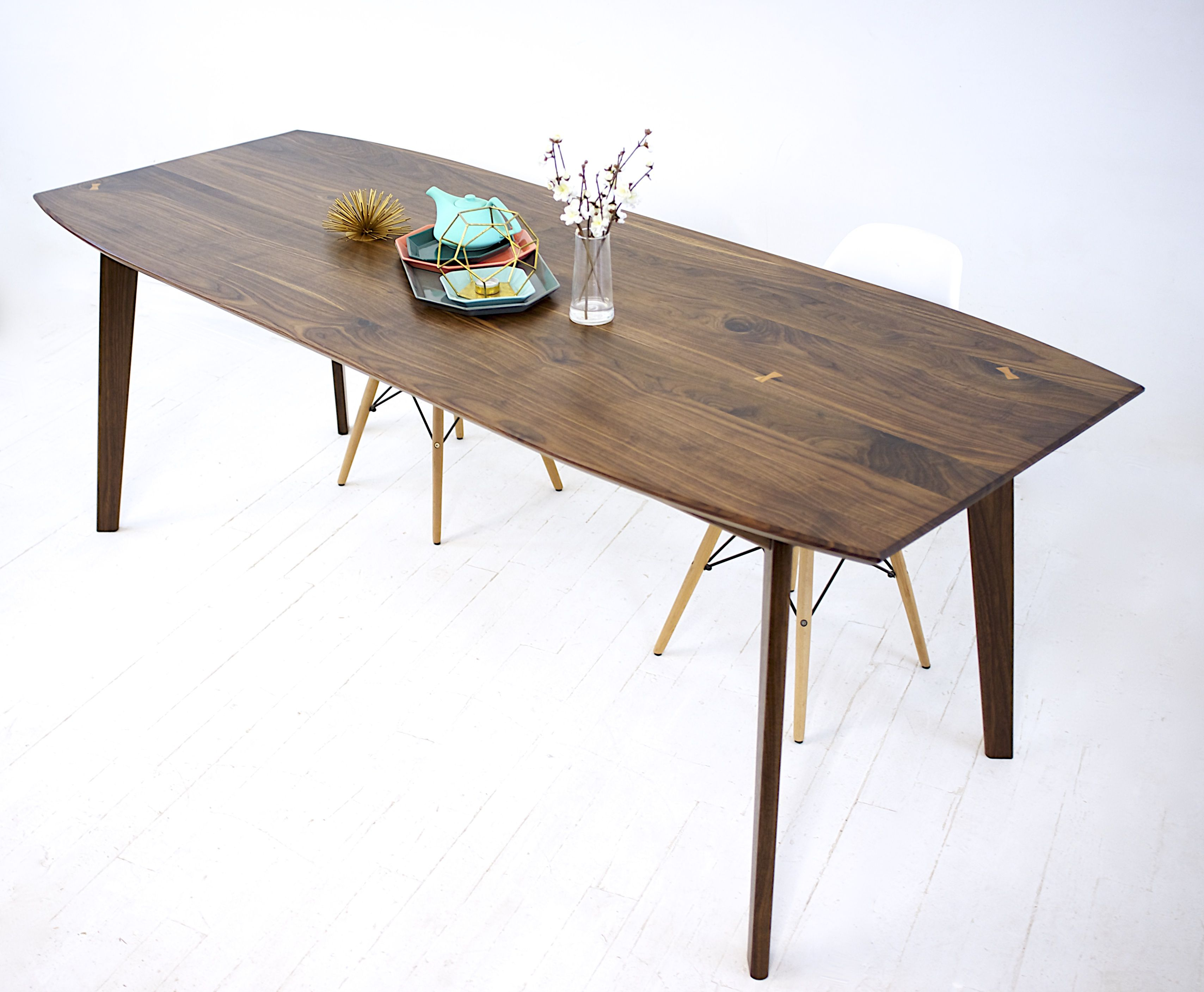 Buy a Custom Santa Barbara Mid Century Modern Dining Table made