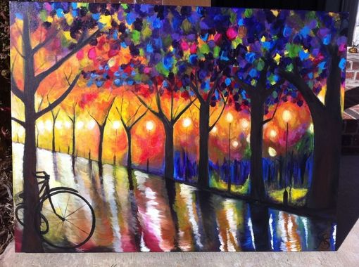 Custom Made Central Park Oil Painting