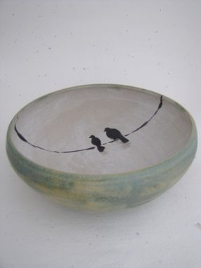 Custom Made Bowl With Love Birds