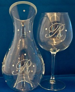 Custom Made Monogrammed Wine Decanter