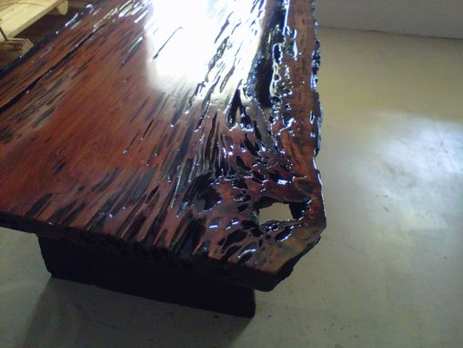 Custom Made Stained Live Edge Table