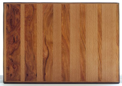 Custom Made Cherry And Beech Cutting Board With Walnut Accent