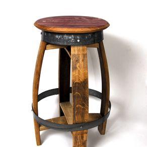Rustic Swiveling Wine Barrel Barstools