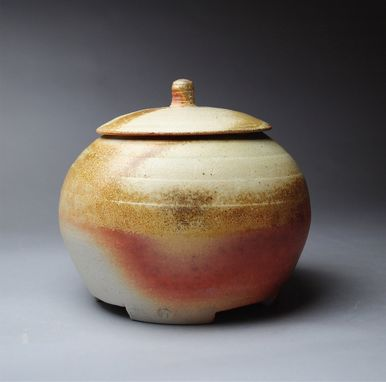 Custom Made Footed Covered Jar Wood Fired