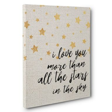 Custom Made I Love You More Than All The Stars Canvas Wall Art