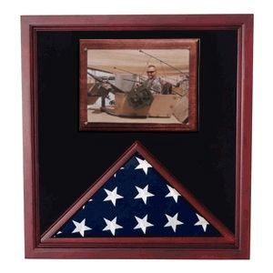 Custom Made Army Air Corps Flag Shadow Case, Flag Frame With Photo Display