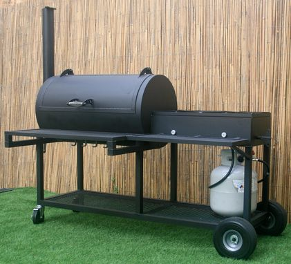 Custom Made Bbq Pit With Propane Burners – The Laredo - Heavy Duty - Texas Bbq - Barbecue Pit - Handmade