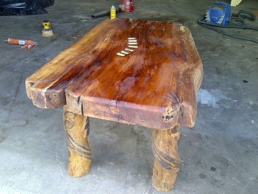 Custom Made Hand-Carved Table