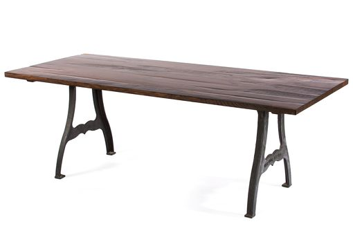 Custom Made The Williamsburg Reclaimed Wood Dining Table - Dark Walnut