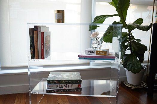Custom Made Acrylic Bookcase TV Stand