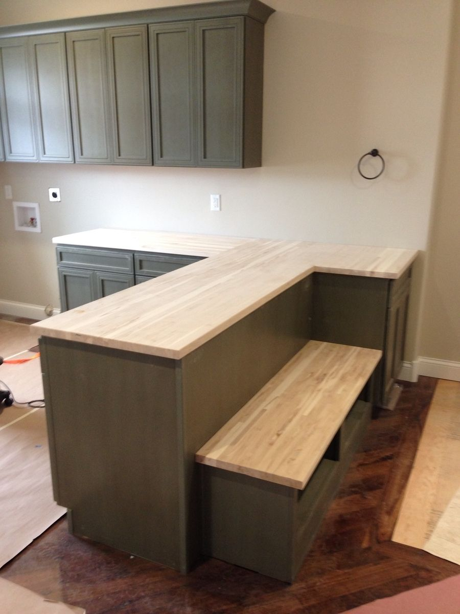 hand crafted maple butcher block counter top by monarch. Black Bedroom Furniture Sets. Home Design Ideas