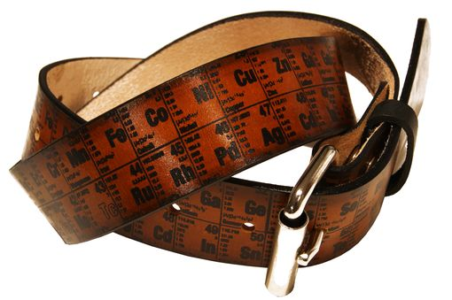 Custom Made Periodic Table Of Elements Leather Belt