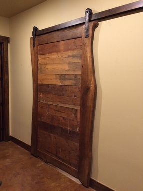 Hand Made Live Edge Pecan Sliding Barn Door By Raw Earth