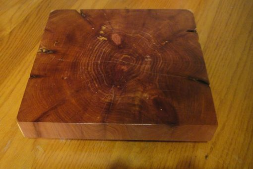 Custom Made Food Safe Functional Art Cedar Tree Trunk Trivets In Random Or Custom Shapes
