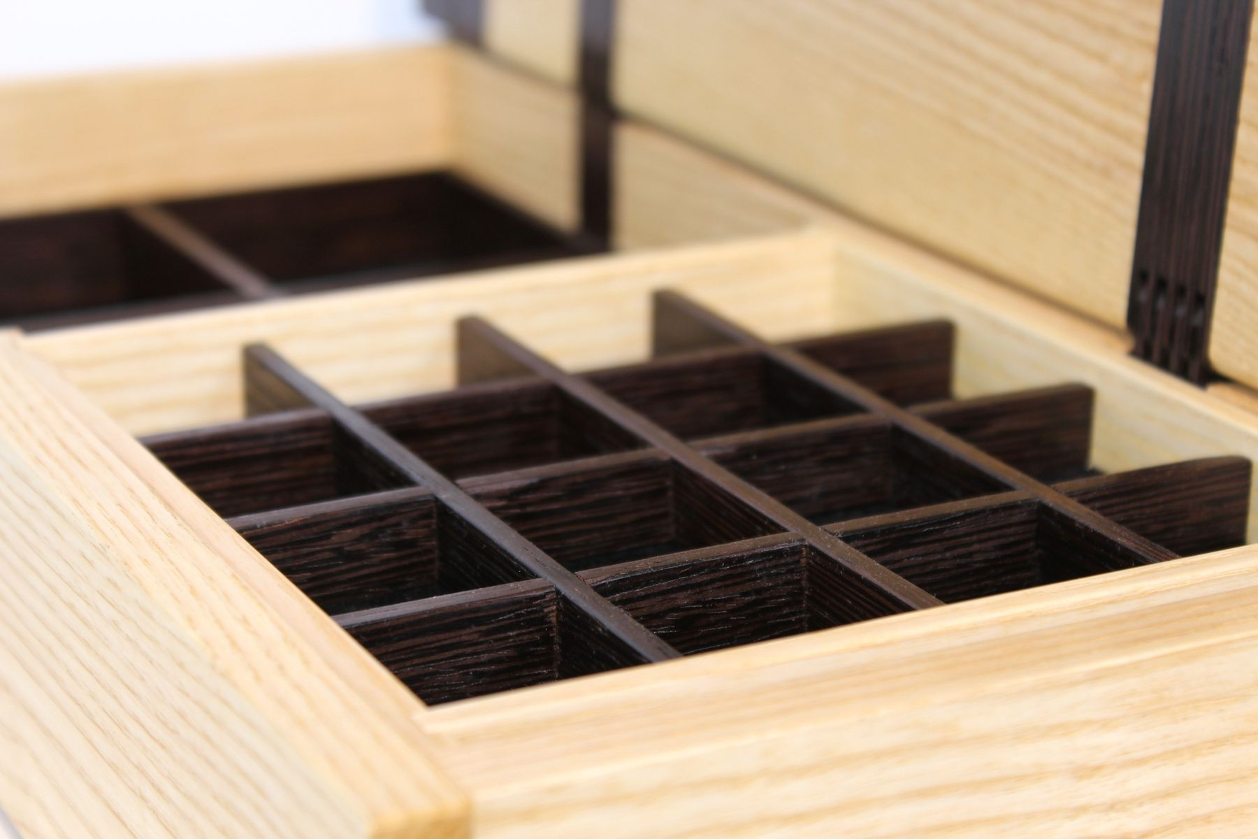 Buy Hand Made Ash And Wenge Jewelry Box With Wood Hinges