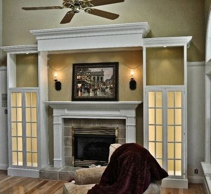 Custom Made Entertainment Center With Mantle
