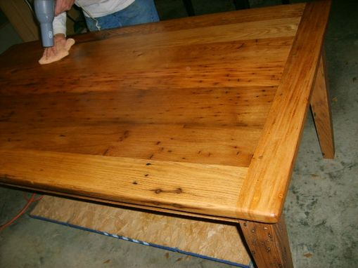 Custom Made Wormy Chestnut Dining Table