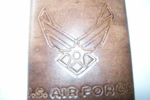 Custom Made A Brown Leather Air Force Wallet For My Son