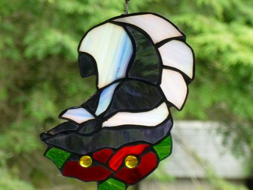 Custom Made Custom Stained Glass Skunk