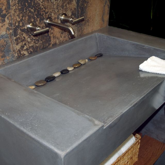 custom concrete vanity and sink coastal design countertop bathroom molds counter