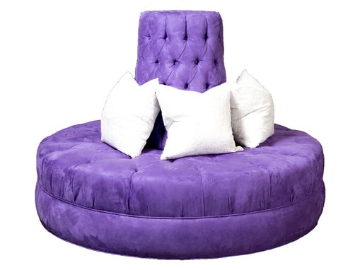 Custom Made Fully Tufted Circle Banquette Sofa