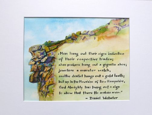 Custom Made Custom Made For Ashley C. Watercolor Painting With Quote By Hand Lettering
