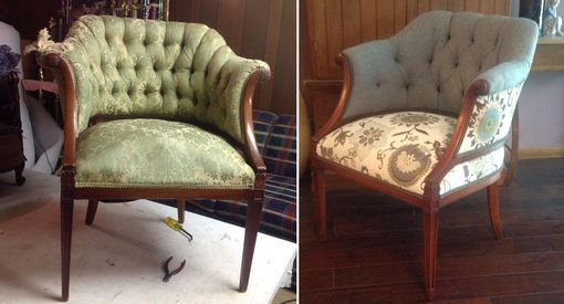 Custom Made Tufted Barrel Chair
