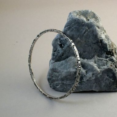 Custom Made 12-Guage Sterling Silver Bangle
