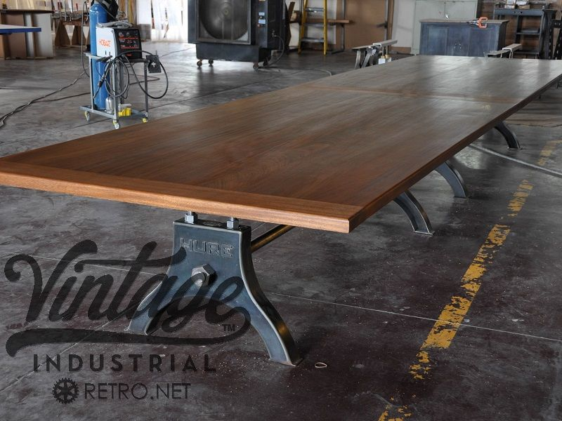 Hand Made Vintage Industrial Hure Conference Table By Vintage - Old conference table