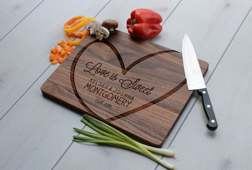 Custom Made Personalized Cutting Board, Engraved Cutting Board, Custom Wedding Gift – Cb-Wal-Montgomery