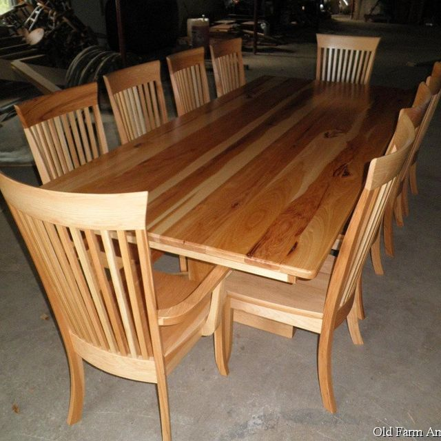 Custom Dining Room Table & Chairs by Old Farm Amish Furniture ...