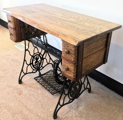Custom Made Singer Treadle Sewing Machine Desk