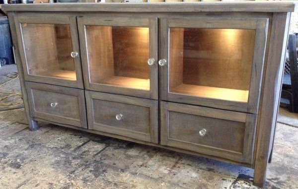 Custom Made Reclaimed Wood Buffet/Bar - Custom Made Reclaimed Wood Buffet/Bar By Santini Custom Furniture