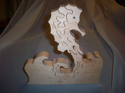 Custom Made Birds Eye Maple Sea Horse Puzzle