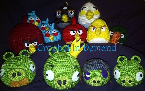 Custom Made Crochet Angry Birds Set