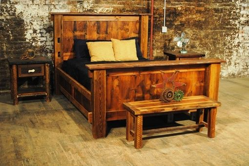 Custom Made Reclaimed Barn Wood Beds - King, Queen And Day