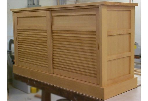 Custom Made Furnishings : Douglas Fir Bookcase And Cabinet