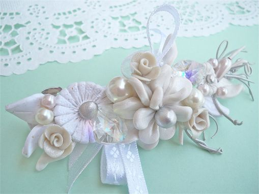Custom Made Beautiful Bridal Hairpiece - Unique And One Of A Kind - Beautifully Packaged
