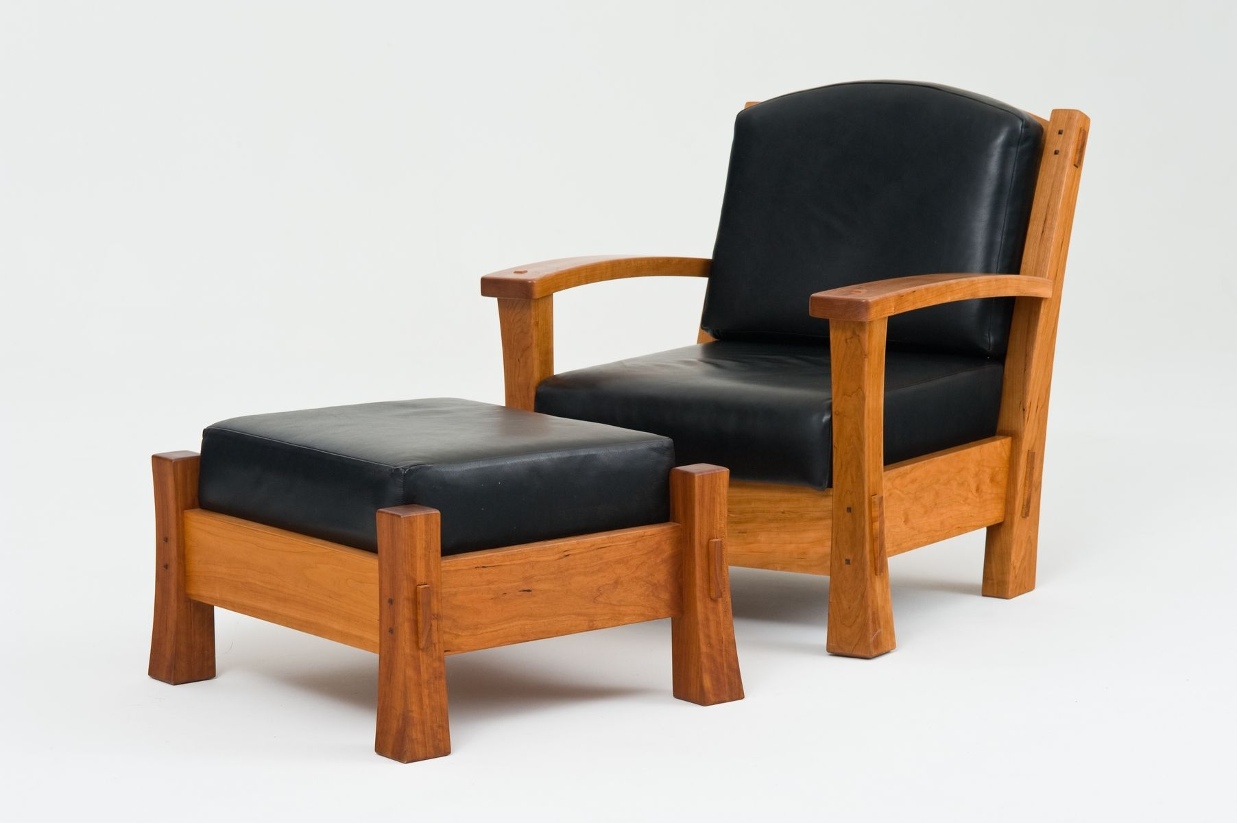 Admirable Hand Crafted Arm Chair And Ottoman By Underbark Furniture Andrewgaddart Wooden Chair Designs For Living Room Andrewgaddartcom