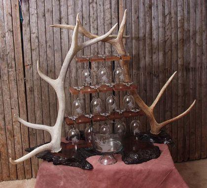 Handmade Elk Wine Rack By Rocky Mountain Wildlife