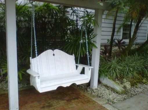 Custom Made White Patio Swing