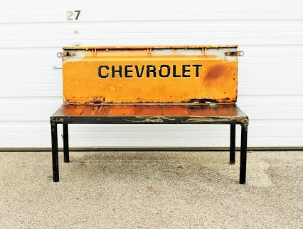 Custom Made Rustic Garden Bench Chevy Truck Tailgate Benches Outdoor Furniture