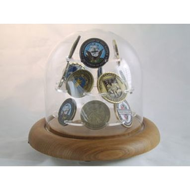 Custom Made Coin Display Glass Dome For Challenge Coin