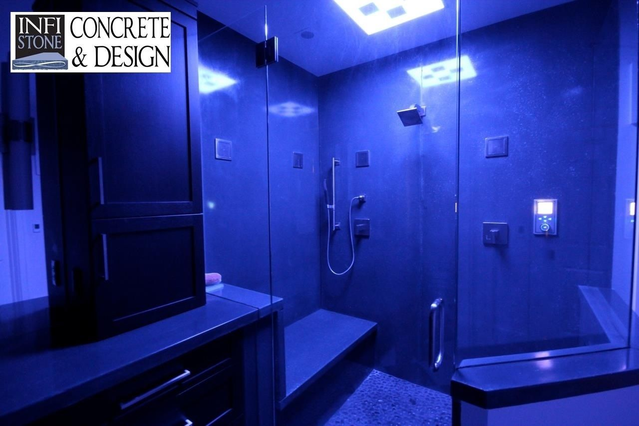 Hand Crafted Concrete Shower Stall by Infistone - Concrete & Design ...