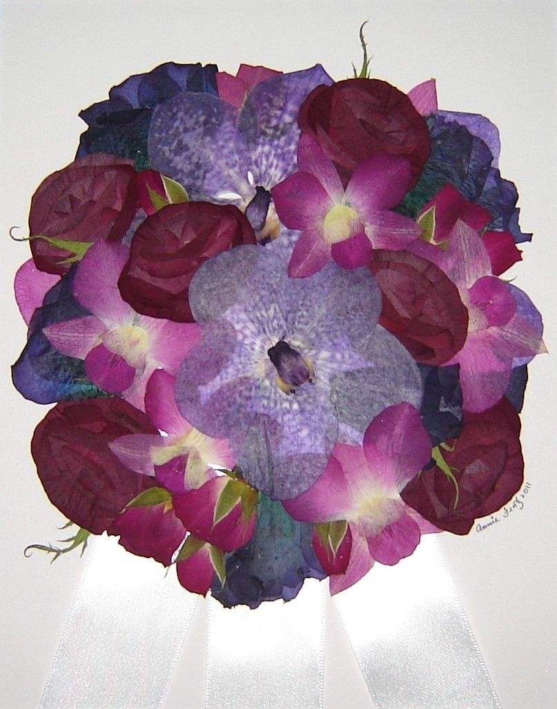 Custom made pressed flower art bridal bouquet flowers only by custom made pressed flower art bridal bouquet flowers only izmirmasajfo