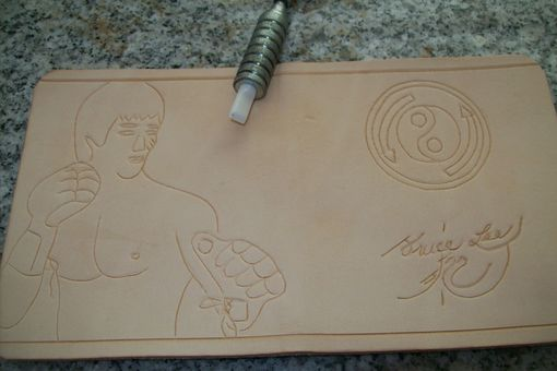 Custom Made Bruce Lee Leather Wallet