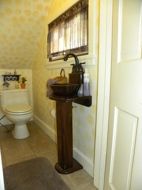 Custom Made Solid Walnut Powder Room Sink