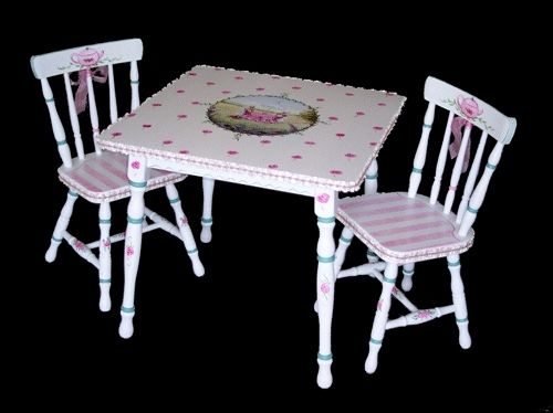Custom Made Hand Painted Children's Table Set