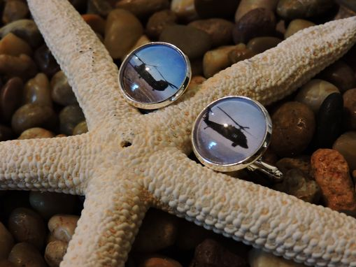 Custom Made Custom Sterling Silver Plated 16mm Cufflinks