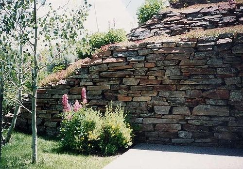 Custom Made Private Residence Stone Drystack Retaining Walls